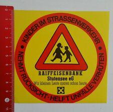 Aufkleber/Sticker: Raiffeisenbank Stutensee - Kinder im Straßenverkeh (05041654)