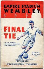 Football Programme Cover Reprints (B) Portsmouth v Wolves F.A.Cup Final 1939