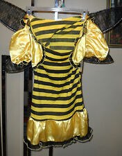BUMBLE BEE HALLOWEEN COSTUME GIRLS X-LARGE DRESS WINGS NWT SURPLUS TOTALLY GHOUL