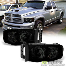 Black Smoke 2002-2005 Dodge Ram 1500 2500 3500 Headlights Left+Right Replacement