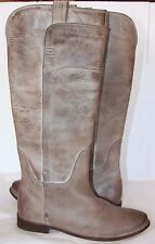 Frye Paige Tall Riding Grey burnished Antiqued leather boots  women's size 10 m