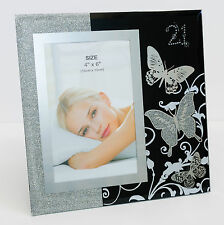 New Happy 21st Birthday Glass Photo Frame Size 10x15cm | Gift for Her | Keepsake