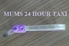 "KEY RING LOOP FOB keyring WITH MESSAGE  "" MUMS 24 HOUR TAXI "" keys home keyring"
