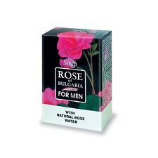 "Soap for Men ""Rose of Bulgaria"" 100g Bar with Natural Rose Water, Biofresh"