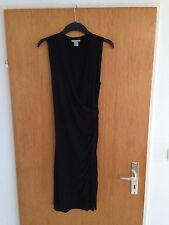 H&M Kleid Stretch Gr.36 S schwarz Blogger Wickelkleid Trend studio stretch