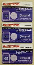 New Disneyland Official Driver License Complete Set of 3, Powered by Honda