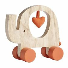 Natures Purest My First Friend Wooden Elephant Toy Pull Along Baby Toddler Toy
