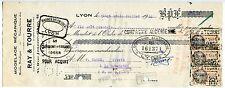 TRAITE 1935 MODELAGE MECANIQUE RAY ET TOURRE LYON TIMBRE FISCAL