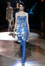 Marc Jacobs Runway Gingham Fringed Dress Size 4