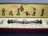BRITAINS 8808 ROYAL MARINE LIGHT INFANTRY METAL TOY SOLDIER FIGURE SET