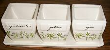 Ceramic Herb Garden 4-piece Planter Set with Tray and 3 Pots