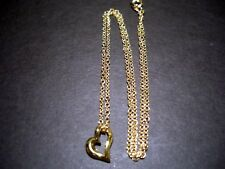 18 inch gold chain  with heart pendant
