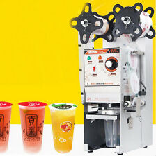 220V WY-680 Automatic Bubble Tea Cup Sealing machine Fruit Juice Cup Sealer 350W