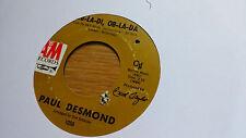 Paul Desmond 45 Ob-La-Di, Ob-La-Da/Autumn Leaves A&M 1050 Beatles Song Soul Jazz