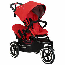 Phil&Teds Sport Buggy Stroller with Double Kit V5, Cherry | SPORTPR-V5-19