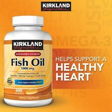 Kirkland Signature Omega-3 Fish Oil 1000 mg 400 ct softgels vitamin
