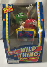 M&M WILD THING ROLLER COASTER CANDY DISPENSER NEVER BEEN REMOVED FROM THE BOX!!!