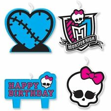 Monster High 4 pc Candle Set Cake Topper Party