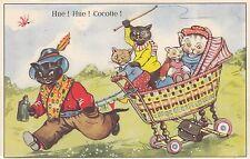 Katze, Katzen, Kinderwagen als Kutsche, ca. 50er/60er Jahre