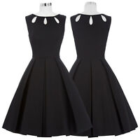 40S 50'S 60'S Retro Vintage Style Swing Pinup Housewife Prom Party Skater Dress