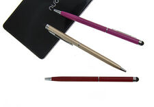 2-in-1 Touch Screen Pen Stylus+Ballpoint Pen For iPhone Smartphone Tablet White
