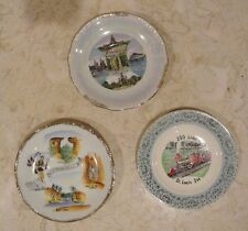 Vintage Lot of Collector Plates Wisconsin Dells, Illinois, Zoo Line St.Louis Zoo