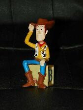 "Disney TOY STORY Figure WOODY 3.25"" CAKE TOPPER On Alphabet Letter Block H B"