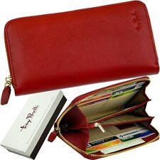 tony perotti DAMEN-GELDBÖRSE, UVP 99,95 € - red purse - LEDER ROT GELDBEUTEL neu