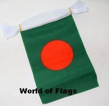 BANGLADESH FLAG BUNTING Bangladeshi 9m 30 Fabric Party Flags Asia Asian