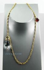 BACCARAT JEWELRY BOUCHONS DE CARAFE VERMEIL SILVER LARGE NECKLACE CLEAR