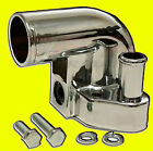 Ford 302 5.0 351w 289 Polished Aluminum 90 degree Water Neck Thermostat Housing