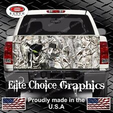 Bow Reaper Buck Snow Camo Truck Tailgate Wrap Vinyl Graphic Decal Wrap