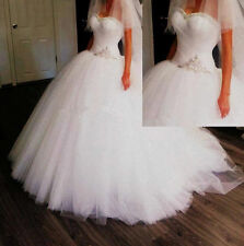 2015 Princess beaded Tulle Ball Gown Wedding Dresses Bridal Gowns custom size