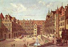 Alte Kunstpostkarte - Ulrich Kraus - Der Schloßhof zu Heidelberg