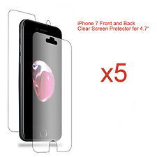 "5 x Front and Back LCD Screen Protector Guard for Apple iPhone 7 for 4.7"" Screen"