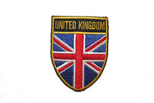 UN. KINGDOM COUNTRY FLAG OVAL SHIELD FLAG EMBROIDERED IRON-ON PATCH CREST BADGE