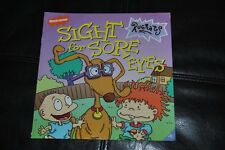 """Rugrats Book Sight for Sore Eyes 1999 Chuckie Tommy Spike Dog HTF Nickelodeon 8"""""""