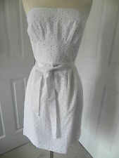 NWT J CREW JESSIE DRESS IN EYELET WHITE SZ.10 #83148 $188