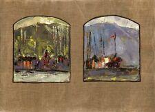 """Russischer Realist Expressionist Öl Leinwand """"Schiffe"""" 81 x 60 cm"""
