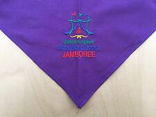 20th World Scout Thai Jamboree 2003 UK Purple Embroidered Neck scarf / Kerchief