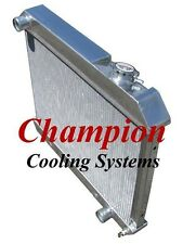 NEW Champion EC284 Aluminum Radiator 2 Row Pontaic Catalina Olds Cutlass 61-66