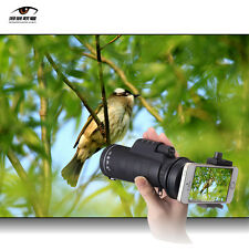 Universal 10x40 Hiking Concert Camera Lens Zoom Telescope Phone Holder For Smart