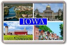 FRIDGE MAGNET - IOWA - Large - USA America TOURIST