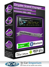 Chrysler Grand Voyager DAB Bluetooth radio kit, Pioneer stereo CD USB AUX player