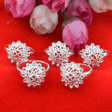 5pcs wholesale Jewelry Fashion  925 silver Mixed size rings for women N-91