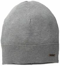 BOSS ORANGE BY HUGO BOSS KATAPINO BEANIE HAT. PASTEL GREY, ONE SIZE, NEW
