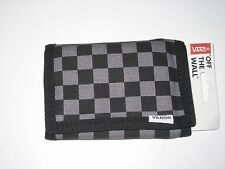 Vans Authentic OTW Black & Grey Slipped Tri-Fold Checkerboard Velcro Wallet