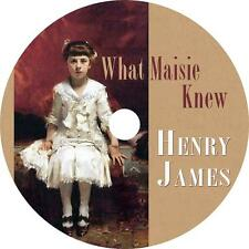 What Maisie Knew, a Henry James Divorce and Immorality Audiobook on 1 MP3 CD