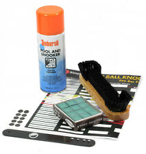 POOL TABLE VALETING KIT CLOTH CLEANER VALET BRUSH CHALK snooker cleaning pack