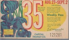Trolly/Bus pass capital Transit Wash. DC--8/27/9/2/1950-Iris-----41